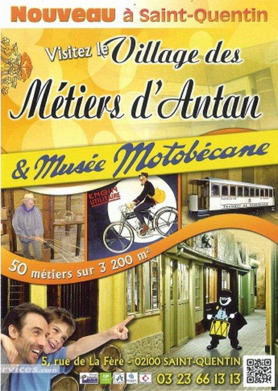 """LE MUSEE DES METIERS D'ANTAN A SAINT-QUENTIN MA VILLE DANS L'ANCIENNE USINE """"MOTOBECANE"""""""