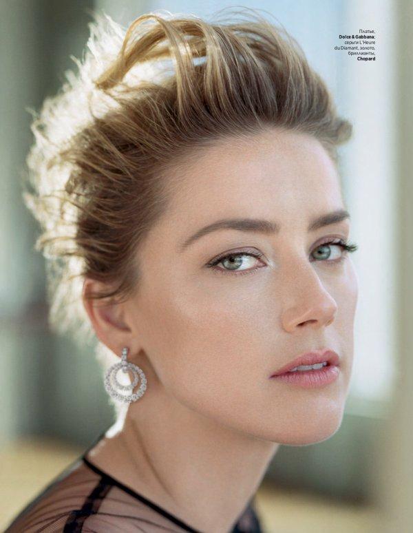 Amber Heard en couverture du Instyle Russe 12/18