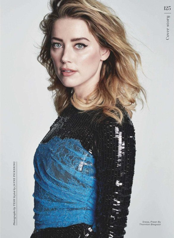 Amber Heard en couverture du Marie Claire uk 12/18