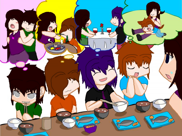 Luaisy, Lucas, Subarashi, Kurai et Saru! Dessin :3