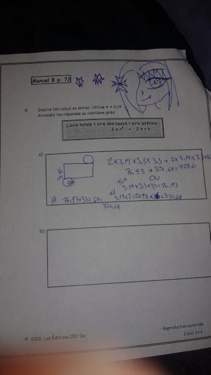 Quand je m'ennuie en math XD