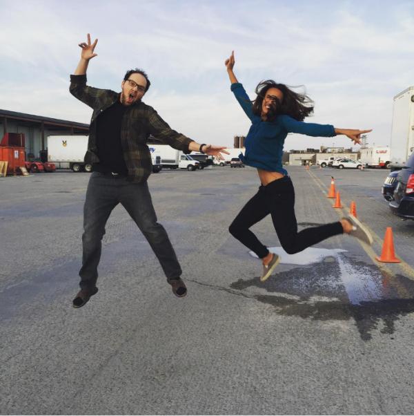 Nina Lisandrello  et  Austin Basis  tournage saison 4