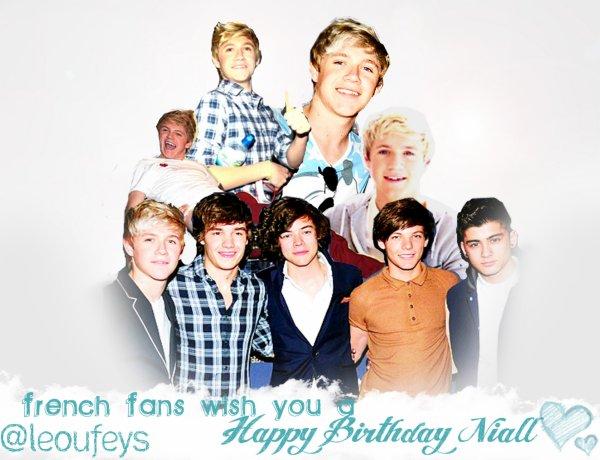 Un article un peu spécial et qui n'a aucun rapport avec le blog. Aujourd'hui, c'est l'anniversaire d'un membre d'un groupe que j'aime vraiment beaucoup: One Direction. Niall a 18 ans. Joyeux Anniversaire, NIALL. ♥