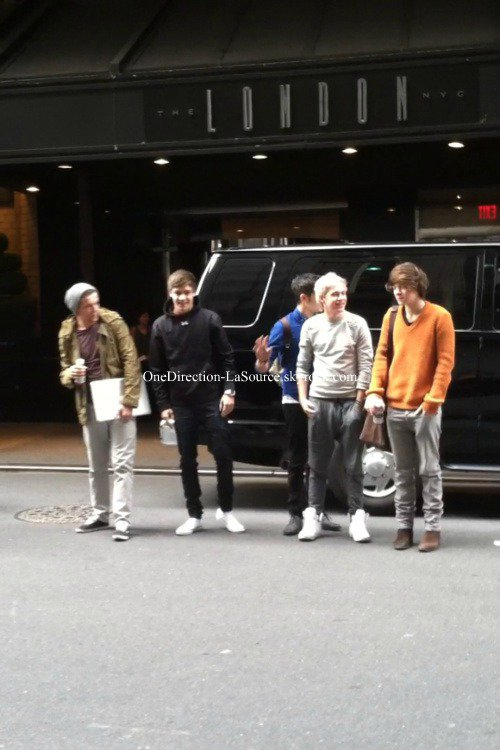 ○ Les One Direction à New York.
