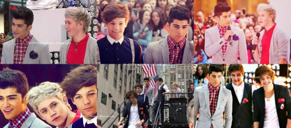 ○ Les One Direction au Today Show, à New York.
