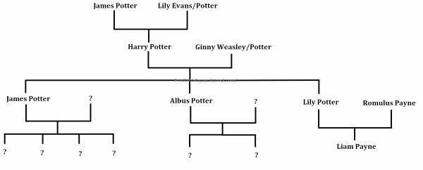 Arbre Généalogique de la famille Potter