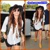24 juillet 2011 : Demi Lovato partant pour Miami.