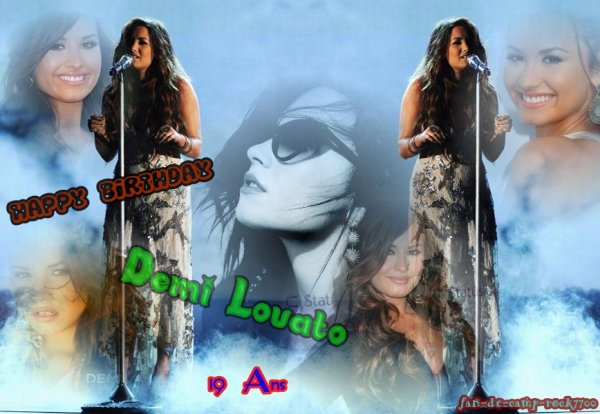 Happy Birthday Demi :) le 20 août 2011 Demi a fêter ses 19 ans :) Alors on dit Quoi ?