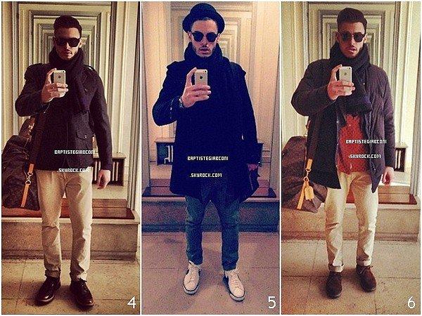 .   Quelques photos des deux derniers jours provenant du compte instagram de Baptiste Giabiconi. .