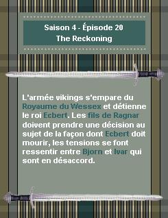------- Saison 4 - Épisode 20 : The Reckoning------- ------- -Création- ↓  -Décoration- ↓ -Gifs- ↓ -Voir l'épisode- ↓  -Stills------