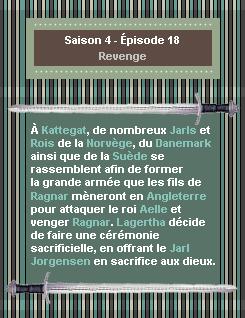 ------- Saison 4 - Épisode 18 : Revenge------- ------- -Création- ↓  -Décoration- ↓ -Gifs- ↓ -Voir l'épisode- ↓  -Stills------