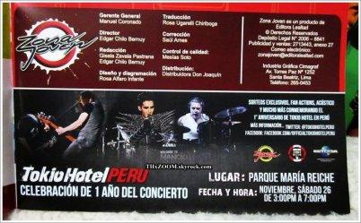Zona Joven n°139 (Pérou)   Tokio Hotel : se rappeler, c'est vivre à nouveau ______________Traduction par Prinz16.skyrock.com (c)
