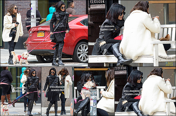 """"""" 15/03/2015 : Stell à été aperçue se promenant dans la ville de « Soho » avec Vanessa Hudgens à New-York.  Stella est à New-York, pour soutenir sa soeur pour sa pièce de théâtre pour son rôle de Gigi. Je ne sais pas combien de temps elle va rester à N-Y !   """""""