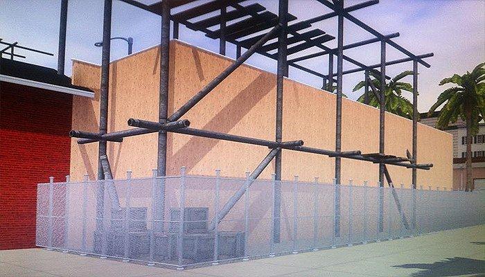 Les premières images du chantier
