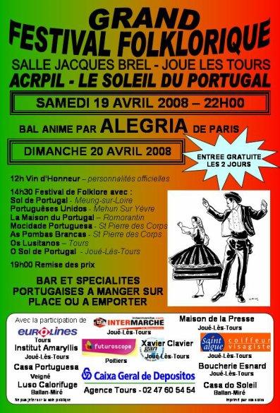 2ème FESTIVAL DE FOLKLORE 19 - 20 AVRIL 2008 - JOUE LES TOURS