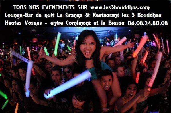 toutes nos soirées sur www.les3bouddhas.com