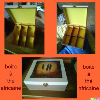 boite à thé africaine