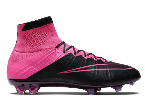 tout neuf 47016 c843d NIKE MERCURIAL SUPERFLY LEATHER FG Rose framboise 747219-006 ...