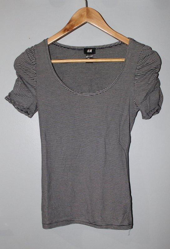 T Shirt manches froncées