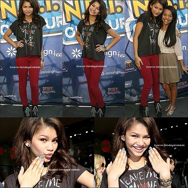 """__ 16 Octobre - Zendaya assisté à un de Tour de Radio Disney Concert NBT   + Pendant le tournage du clip """"Dig Down Deeper .                      ."""