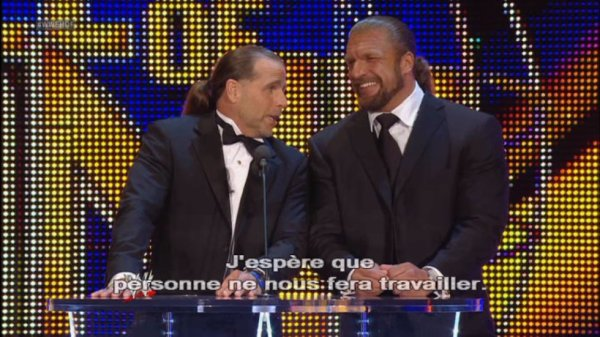 Triple h et Shawn Michaels intronise Mike Tyson au Hall of Fame