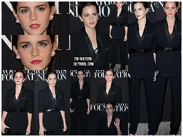09/07/2014 : Emma Watson était présente à la Vogue party organisée durant la fashion week de Paris. (Fr)En effet, la miss a fait plusieurs apparitions remarquées dans sa ville natale. Tenue total black pour l'actrice. Vous aimez ?