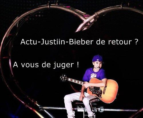 Actu-Justiin-Bieber de retour ?
