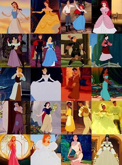 """Les """"transformations"""" des personnages Disney"""