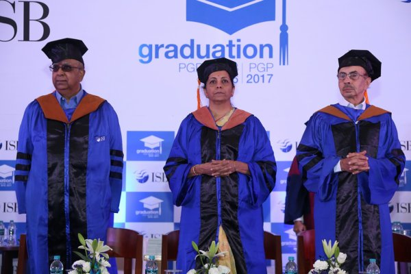 Young minds of this country must build business houses and create more jobs. India needs several entrepreneurs who can become fountainheads of commercially relevant ideas that will make a difference to the economy and the country, says Smt Nirmala Sitharaman at ISB Graduation Day 2017