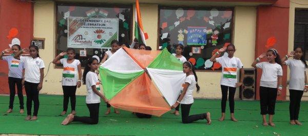 आधारशिला स्कूल में 71वां  स्वतंत्रता दिवस समारोह की धूम  ==========================