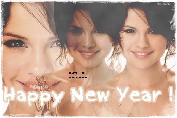 . SELENAH-MARIE-GOMEZ TE SOUHAITE UNE BONNE ANNEE 2012 ! ♥ .