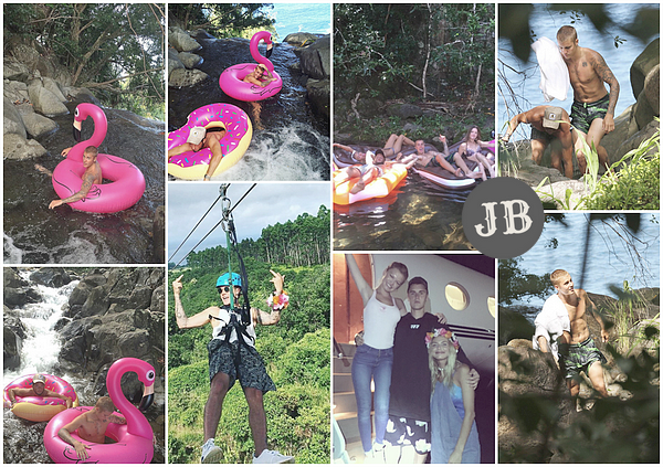 Justin on holiday in Hawaii