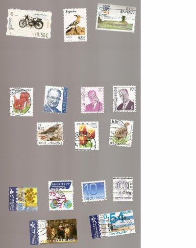 timbres étrangers à échanger