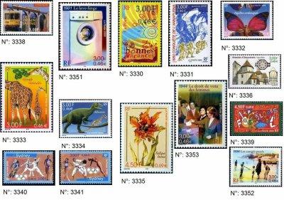 timbres français année 2000
