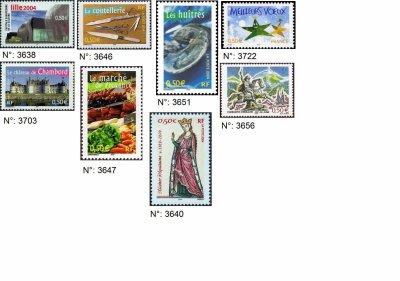 timbres français année 2004