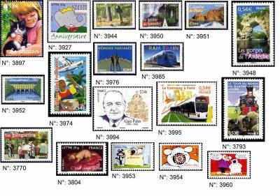 timbres français années 2005-2006