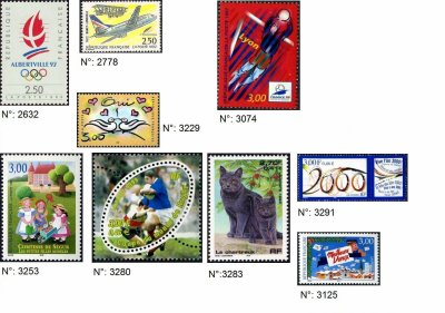 timbres français années 1990-1999