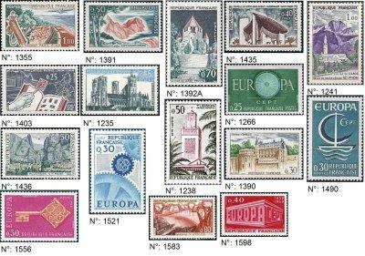timbres français années 1960-1969