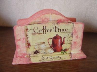 "PORTE SERVIETTES ""COFFEE TIME"""