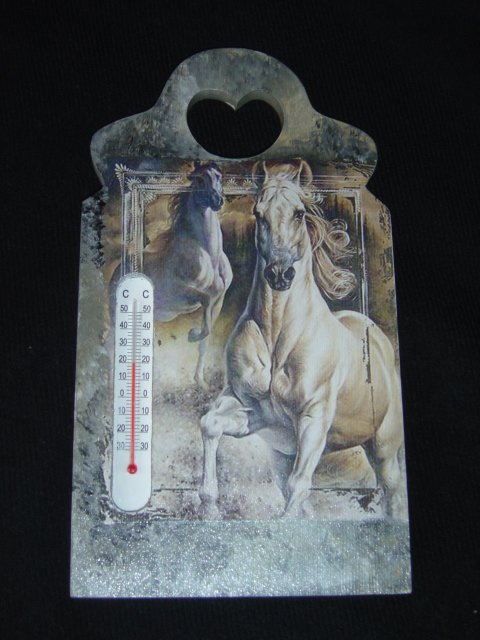 "THERMOMETRE ""CHEVAUX SAUVAGES"""