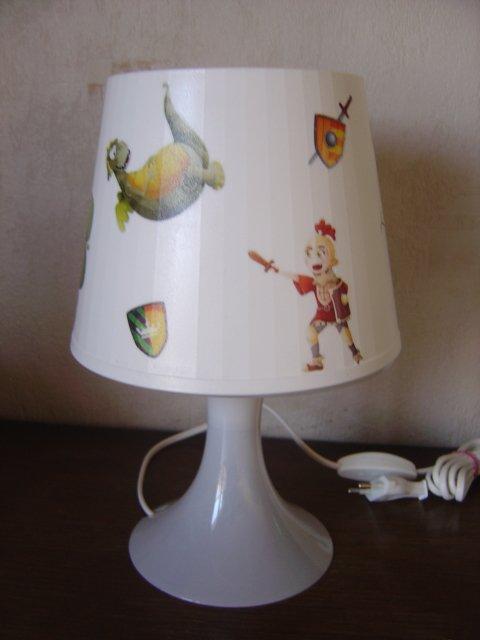 """LAMPE ENFANT""""CHEVALIERS ET DRAGONS"""""""