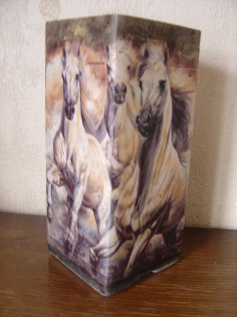 "LAMPE""CHEVAUX SAUVAGES"""