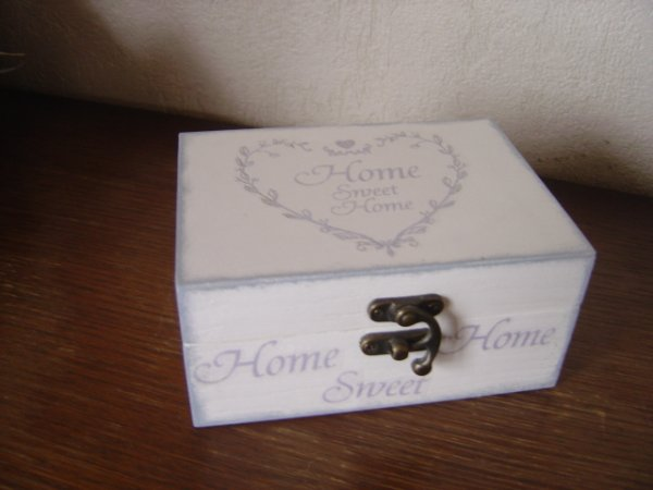 "PETIT COFFRET ""HOME SWEET HOME"""
