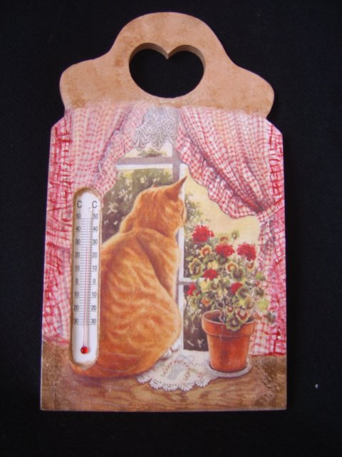"""THERMOMETRE """"CHAT REVEUR"""""""