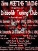 affiche du 2eme meeting du diabolik tuning club 22