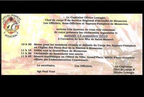 Invitation de Saint-Manert