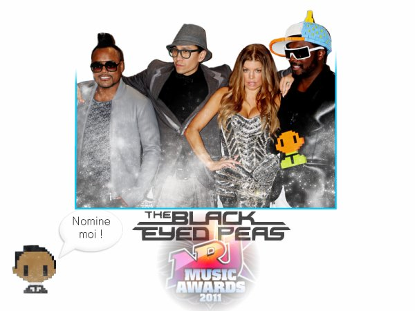 Les Black Eyed Peas nominés au NRJ music Award 2011 ! :)