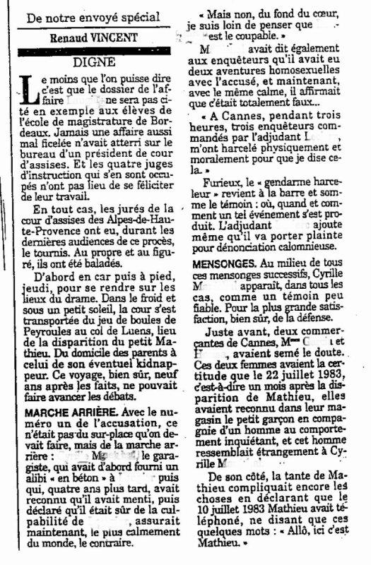 Disparitions d'enfants -  Article de France Soir actualité
