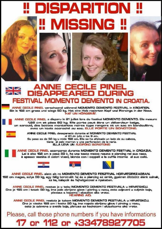 DISPARITION Anne Cécile Pinel