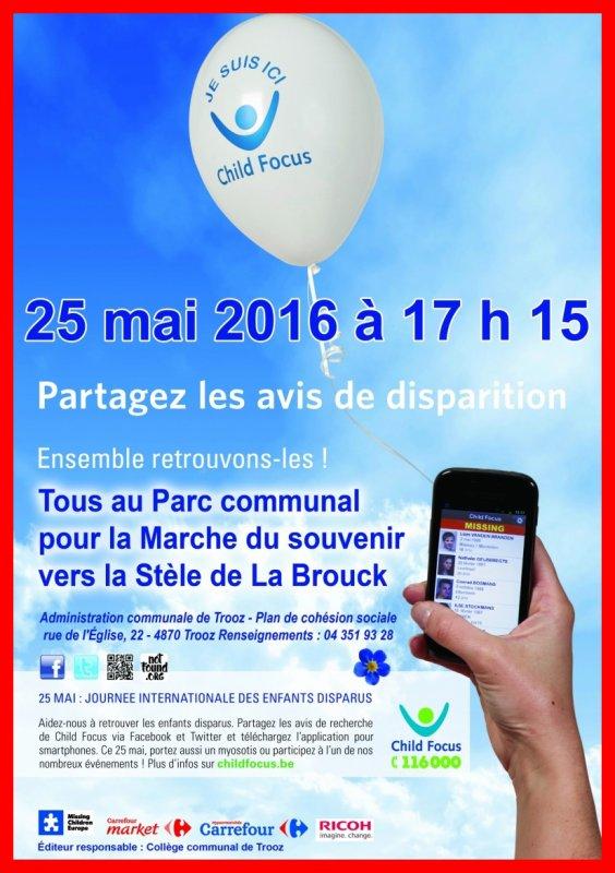 25 MAI 2016 JOURNEE INTERNATIONALE DES ENFANTS DISPARUS